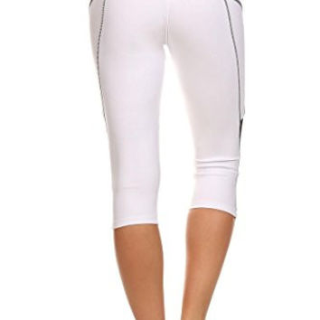 Always Simple White High Waist Sports leggings-Fits Small to Medium