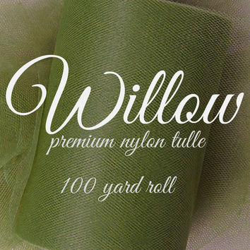 WILLOW - Premium Nylon Tulle - 100 yard rolls - tulle fabric - tutu skirts fabric - craft supplies