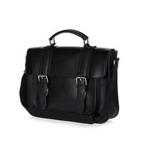 River Island MensBlack structured satchel bag