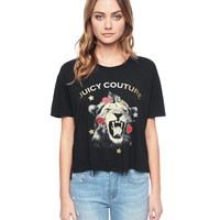 Lion Embellished Short Sleeve Graphic Tee by Juicy Couture
