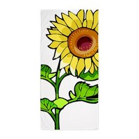 Sunflowers Beach Towel> Sunflowers Are Gifts From The Garden!> Bonfire Designs