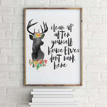 Harry Potter quote Inspirational quote Motivatinal poster Harry Potter quote Typograhy quote Home decor Funny quote Funny poster Wall art
