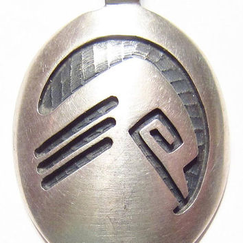 Vintage Sterling Silver Hopi Sekaquaptewa Pendant with Sterling Silver Chain Southwest Native
