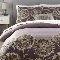Dandelion Field Duvet Cover + Shams - Dark Iris