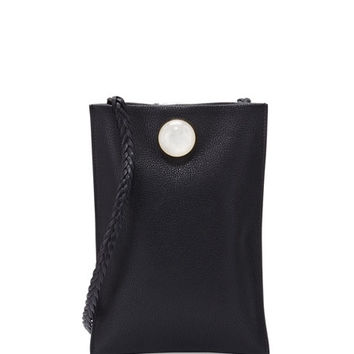 THE ROW Medicine Small Leather Pouch Bag, Black