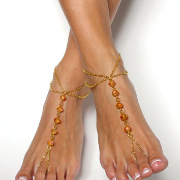 Gold Barefoot Sandals Bohemian Foot Jewelry