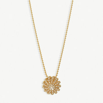 CARTIER Cactus de Cartier Ajoure 18ct yellow-gold and diamond necklace