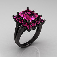 Modern Victorian 14K Black Gold 40 Carat Pink by artmasters