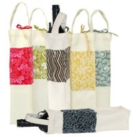 Canvas Wine Bag - Assorted Designs - Order is for ONE bag