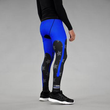 Blue Sauce Thin Blue Line Tights for men