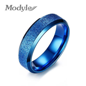 New Fashion Gold-Color Rings For Men and Women Stainless Steel Wedding Engagement Ring