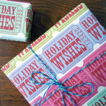 Holiday Wishes Ticket Gift Wrap