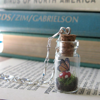 Teeny Tiny Butterfly Terrarium Necklace