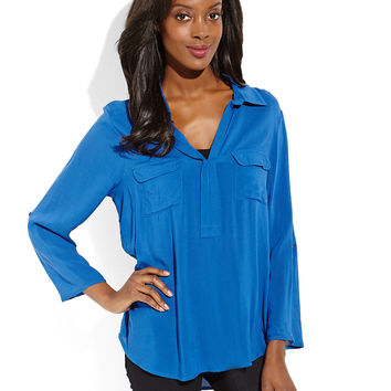 GRAND & GREENE Split Collar Blouse