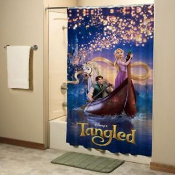 Disney Tangled Rapunzel Movie Shower Curtain High Quality Bathroom 60x72 Inch