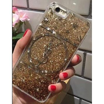 YSL Fashion Shining iPhone Phone Cover Case For iphone 6 6s 6plus 6s-plus 7 7plus 8 8plus