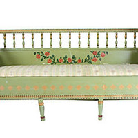 Gustavian Hand-Painted Sofa