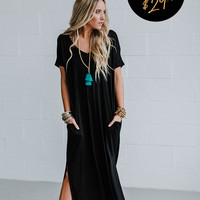 The Sweet Escape OOTW Dress and Necklace Set - Black