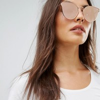 Quay Australia All My Love Cat Eye Sunglasses In Pink at asos.com