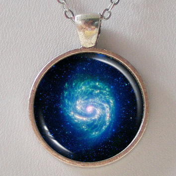 Galaxy Necklace - Hot & Cold in the M100 Galaxy  - Galaxy Series