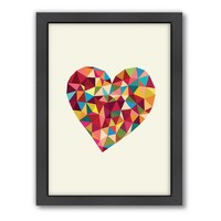 Americanflat Motivated Type Heart Framed Wall Art