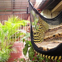 Black and Yellow Bulico Sitting Hammock Hanging Chair by hamanica