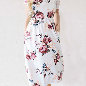 Streetstyle  Casual Feeling Gorgeous Floral Print Dress