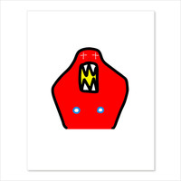 Limited Edition Lil' Red Devil Screenprint - signed - creeps