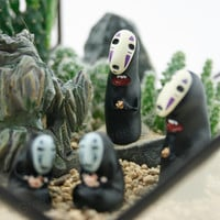 spirited away / terrarium figurine/ miniature figurine/ miniature garden/ terrarium accessories/ totoro/ no face/Miyazaki