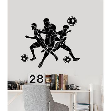 Vinyl Wall Decal Soccer Ball Game Sports Team Players Stickers (3183ig)