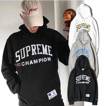 Champion x Supreme 2017 Hooded Sweater M--XL