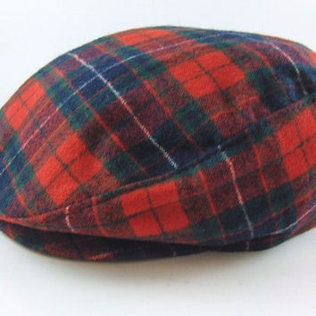 Vintage Pendleton Hat Newsboy Hat Golf Hat Cabbie Cap Driving Hat Pure Virgin Wool