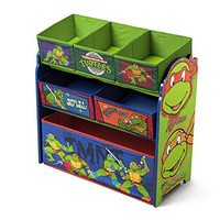 Delta Children Multi-Bin Toy Organizer, Nickelodeon Ninja Turtles