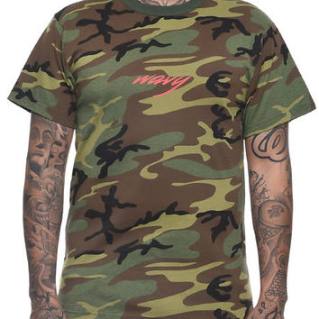 The Wavy Tee in Camo