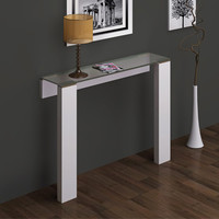 Jane Wall Mounted Console Table White Stainless Steel