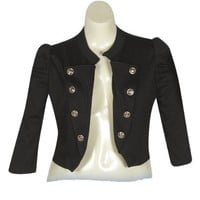 Plus Size Black Sassy Jacket