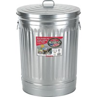 Behrens 31 gal. Galvanized Steel Round Trash Can with Lid-1270 - The Home Depot
