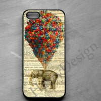 Elephant on Balloons iPhone 4 / 4s / 5 / 5s /5c case, iPhone 6 /6 Plus case, Samsung Galaxy S3 / S4 / S5 case, Note 2, Note 3, Note 4 case