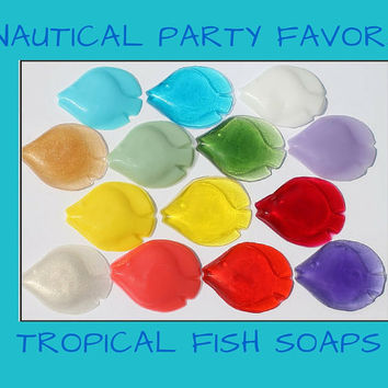 Nautical Party Favor - Scented Fish Soaps for beach or nautical theme bridal shower, baby shower, wedding or birthdays | Pack of 25