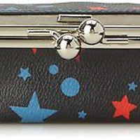 Relic Womens Starburst Cosmetic Case Kiss Lock Clasp Caraway Frame Make Up Purse