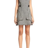 Alexander Wang Grommet Detail Raw Seamed Tweed Dress | Nordstrom
