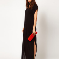 Dagmar Silk Mix Tank Dress with Side Split Detail at asos.com