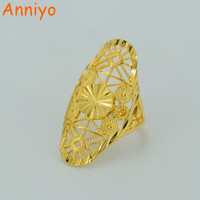 Anniyo Gold Ring for Women's,Gold Color & Copper Africa Ring Ethiopian Jewelry Arab/India/Nigeria/Middle East #034606