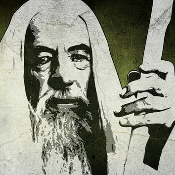 Gandalf from The Lord of the Rings saga 8 x 10 Pop Art Print