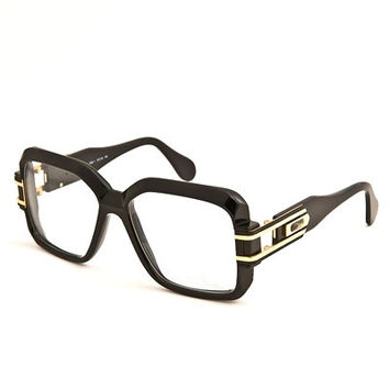 Cazal 623 Black Gold Clear Sunglasses