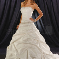 Charming White Ball Gown Scoop Neckline Wedding Dress-SinoSpecial.com