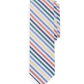 Seersucker Stripe Slim Tie   Brooks Brothers