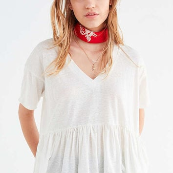Truly Madly Deeply V-Neck Babydoll Tee | Urban Outfitters