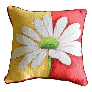 Tache Loves Me Not Daisy Tapestry Throw Pillow Cushion Cover (9046)
