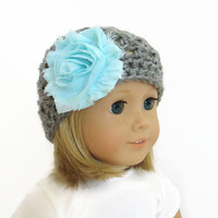 AG Doll Hats - Gray Doll Beanie - 18 Inch Doll Clothes
